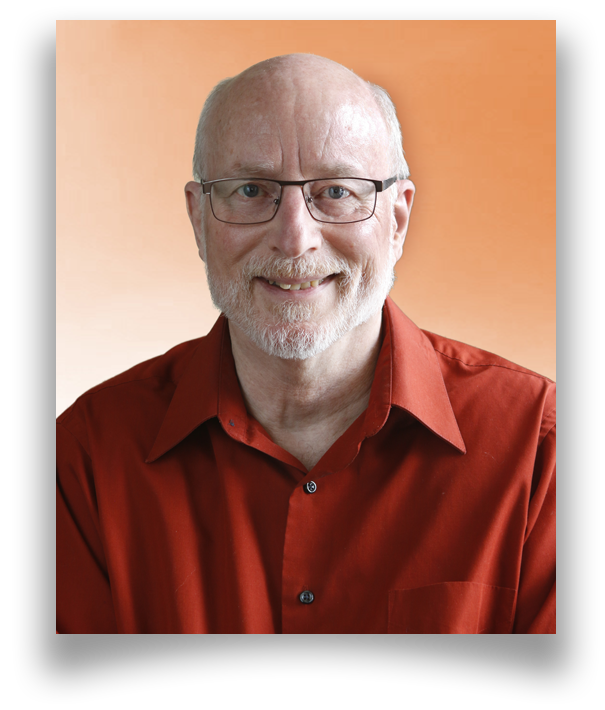 Photo of Canadian certified online counselling therapist Woody Forrieter, smiling and wearing a red shirt.